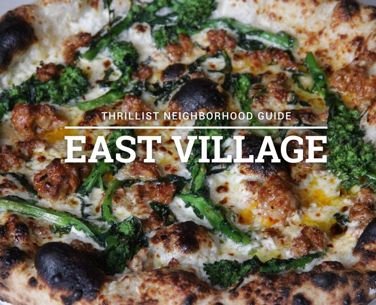 THE DEFINITIVE EAST VILLAGE DINING GUIDE