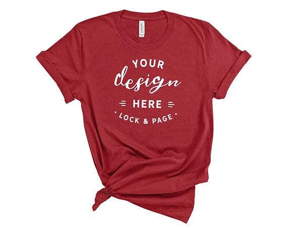 Download Free Canvas Red Bella Canvas 3001 T Shirt Mockup On Plain Psd The Best Free Psd T Shirt Mockups We Ve Mockup Free Psd Free Psd Mockups Templates Shirt Mockup