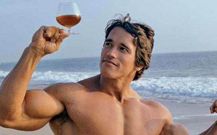 Бодибилдинг фитнес мышцы мышцы тяжелая атлетика бодибилдинг наслаждаться вином спорт мужчины Home Decor Холст Плакат Печать Рисунка