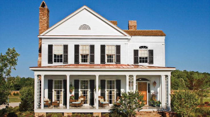 17 Pretty House Plans with Porches - Southern Living - Southern homes are famous for their relaxing and beautiful front porches. Find some of our best house plans with porches here.    Perfect for summer entertaining or lounging outside with a great book and an even better cocktail, the porch is one of the most Southern of all home design features. We've rounded up the best Southern Living house plans with porches to inspire your inner architect.  The porch is a crowd-pleaser with defin...