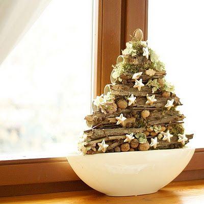 leuke kerstboom van takjes