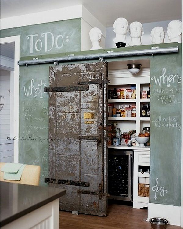 : Barndoor, Chalkboards, Idea, Barn Doors, Chalk Board, Kitchen