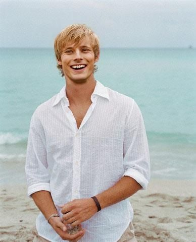 Bradley James. I'm a sucker for guys with blonde hair and blue eyes!