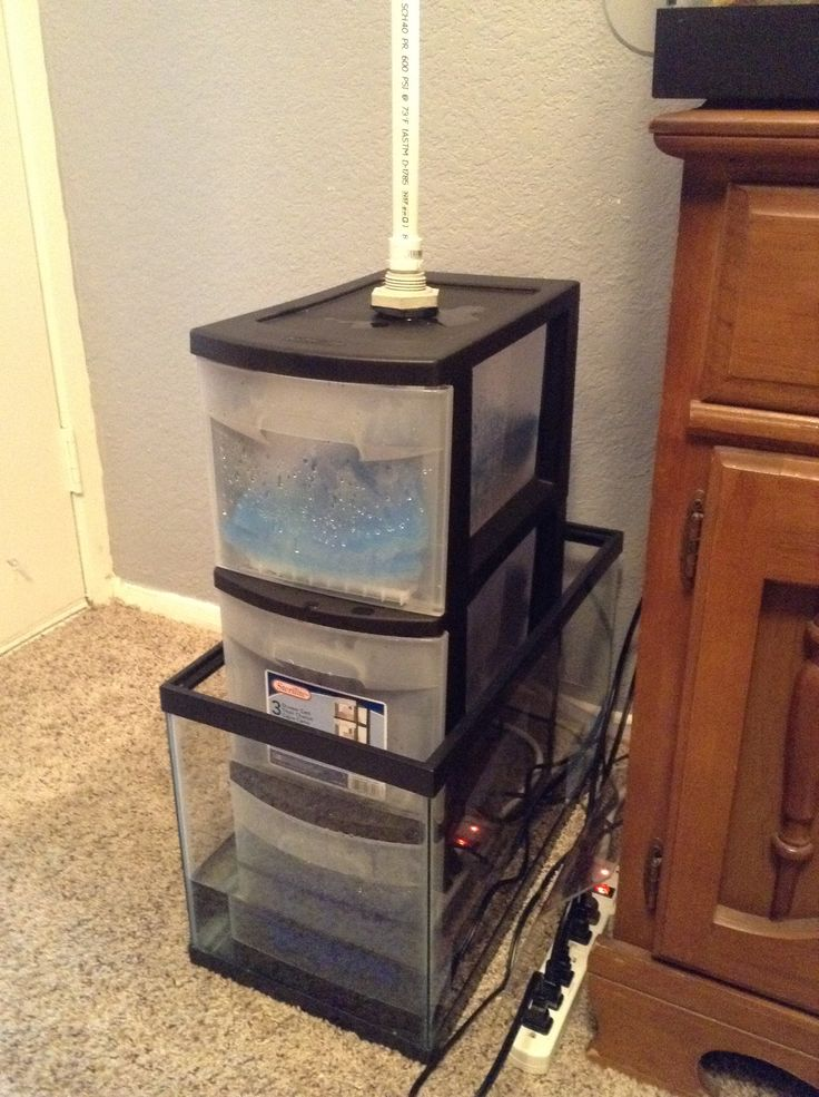 18 best aquarium water making stations images on pinterest for Fish tank filter homemade
