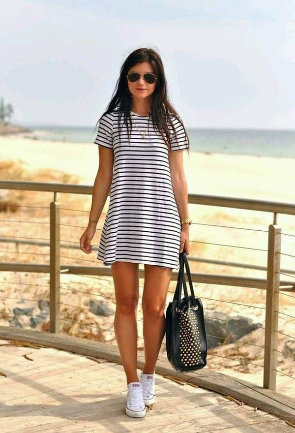 Espectaculares vestidos de rayas | Moda en vestidos