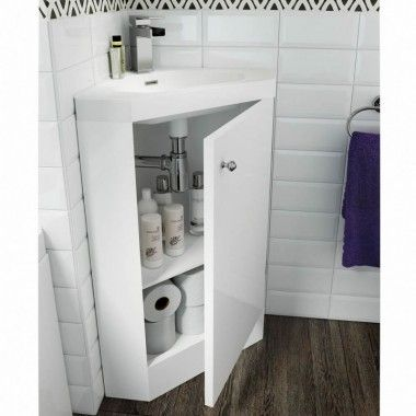Darcey Matt White Corner Vanity Unit with Basin 850x400x400. 17 Best ideas about Corner Vanity Unit on Pinterest   Corner sink