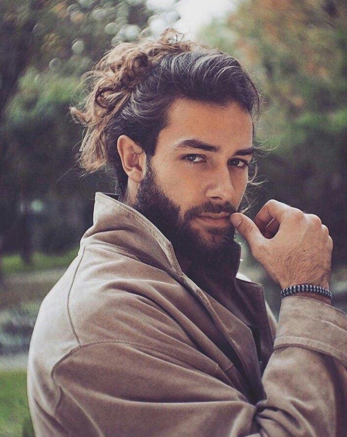 Profile Man Bun Hairstyles Beard Hairstyle Long Hair Styles Men