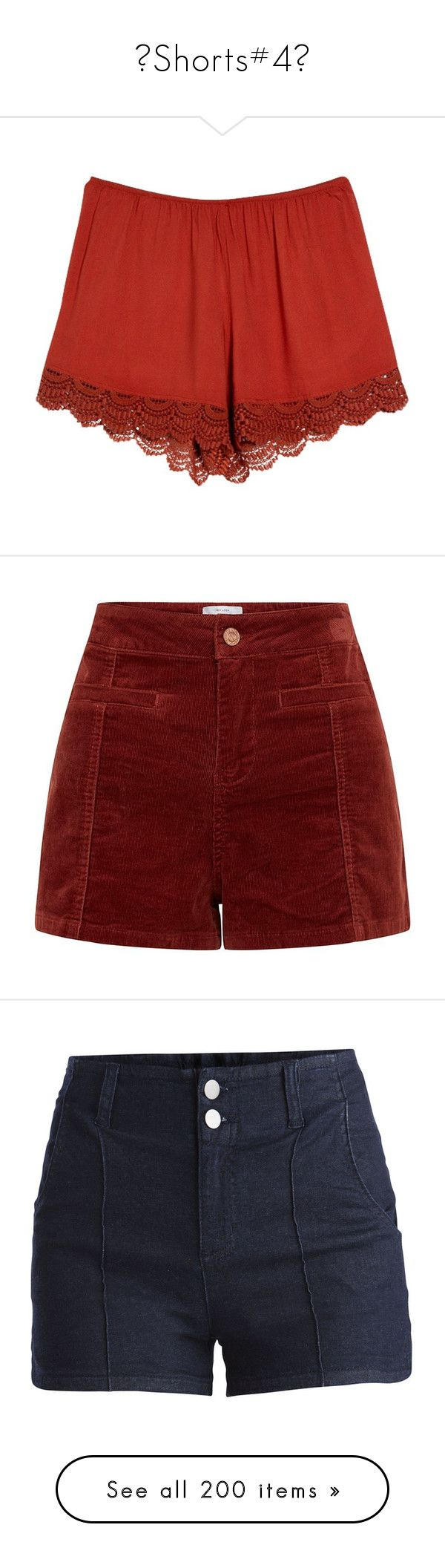 """""""♥Shorts#4♥"""" by lessalice ❤ liked on Polyvore featuring shorts, red, stretch waist shorts, rayon shorts, elastic waistband shorts, mango shorts, elastic waist shorts, bottoms, short and pants"""