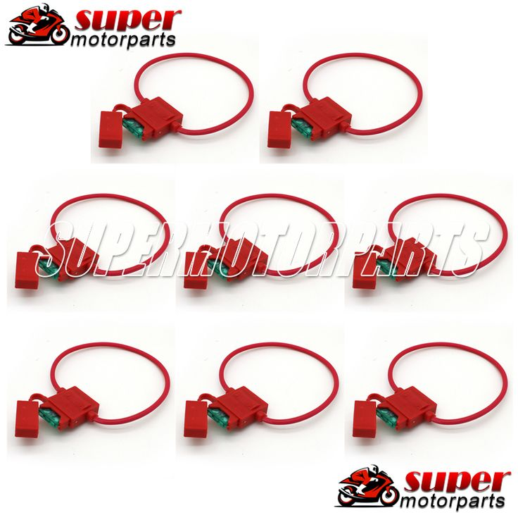 8PCS Motorcycle Electrical Fuses with Carrier Holder Sockets For HONDA CBR250 400 MC14 17 19 23 STEED400