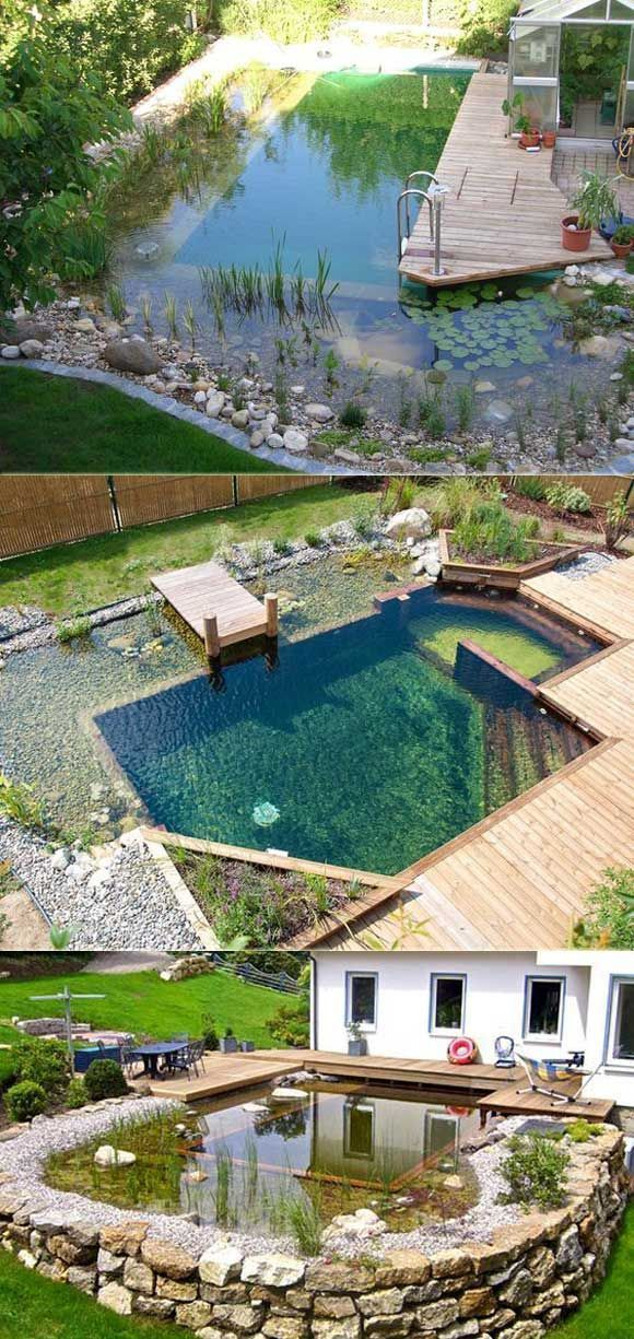 42 Awesome Natural Small Pools Design-Ideen am besten für den privaten Hinterho
