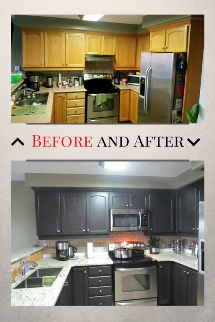 Kitchen refinished by EcoRefinishers in November 2015. Visit our website at ecorefinishers.com or email your pictures to sales@ecorefinishers.com for a free quote!