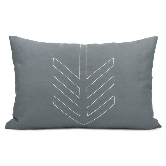 Geometric decorative pillow cover by ClassicByNature, Etsy