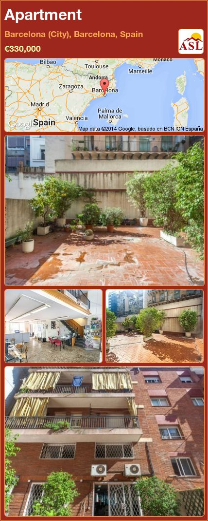 Apartment in Barcelona (City), Barcelona, Spain ►€330,000 #PropertyForSaleInSpain