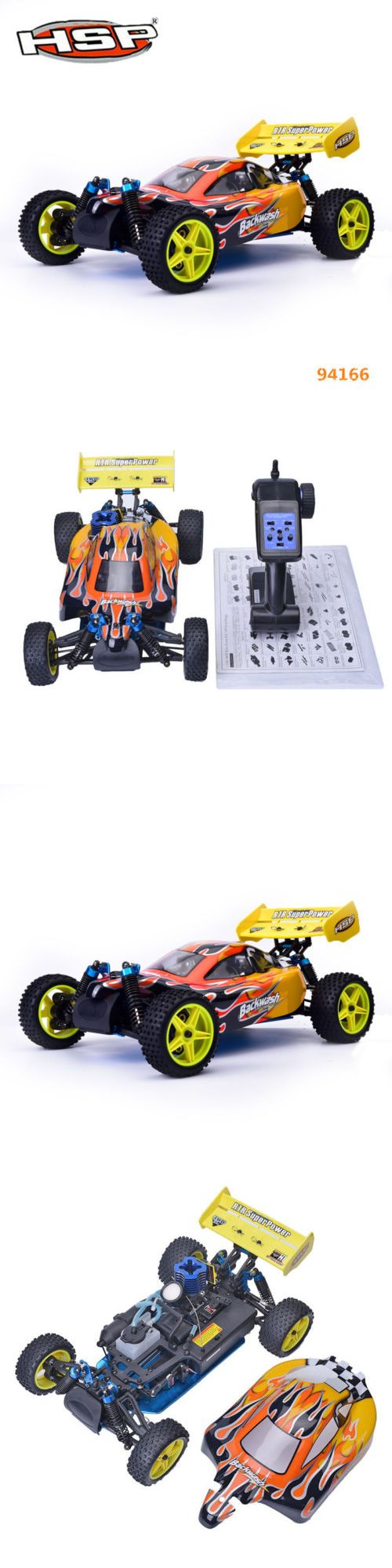 Cars trucks and motorcycles 182183 hsp rc car 1 10 scale nitro gas power 4wd