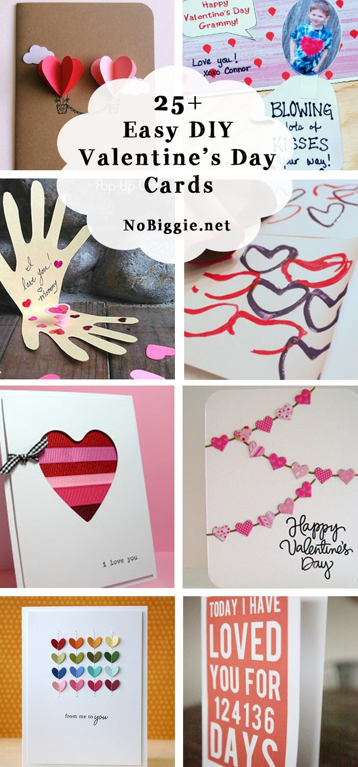 25+ DIY easy Valentine's Day cards | NoBiggie.net