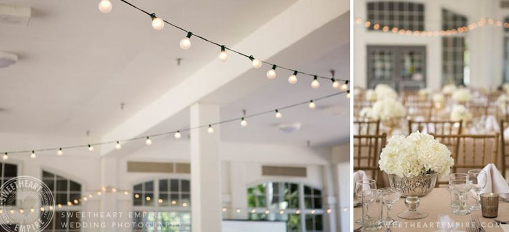 Fairy lights and white florals at Geraldo's at Lasalle Park, Burlington Wedding Photographer #sweetheartempirephotography