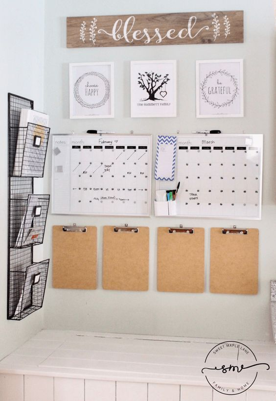 How to make a command center to organize your family