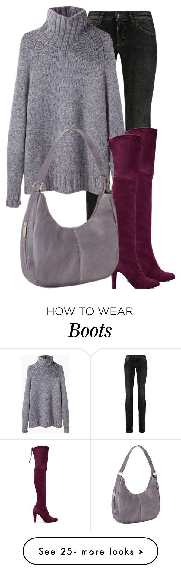 """oxblood boots"" by jana-zed on Polyvore featuring Dolce&Gabbana, Stuart Weitzman, La Garçonne Moderne, Le Donne, StuartWeitzman and lagarconne"