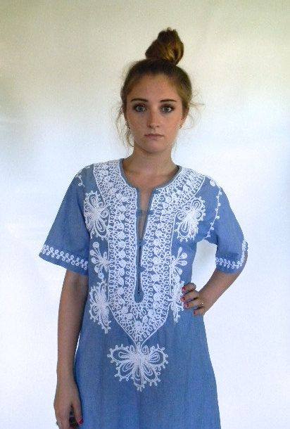 vintage. 60s Chambray Tunic Dress // Cotton Dress by styleforlife, $52.25