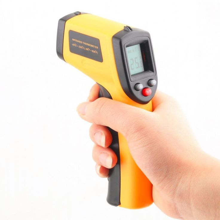 Non Contact Infrared Thermometer Laser LCD Display Digital C/F Selection Free Shipping
