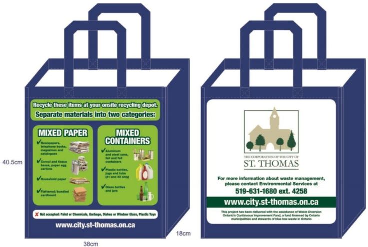 Pin#0013 Reusable bags for multi-residential units (City of St Thomas).