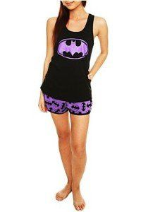 Batgirl (Batman)- Symbol Tank & Allover Print Short Sleepwear Pajamas $29.99