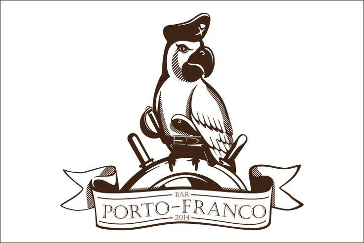 """Логотип для бара """"Porto-Franсo"""""""