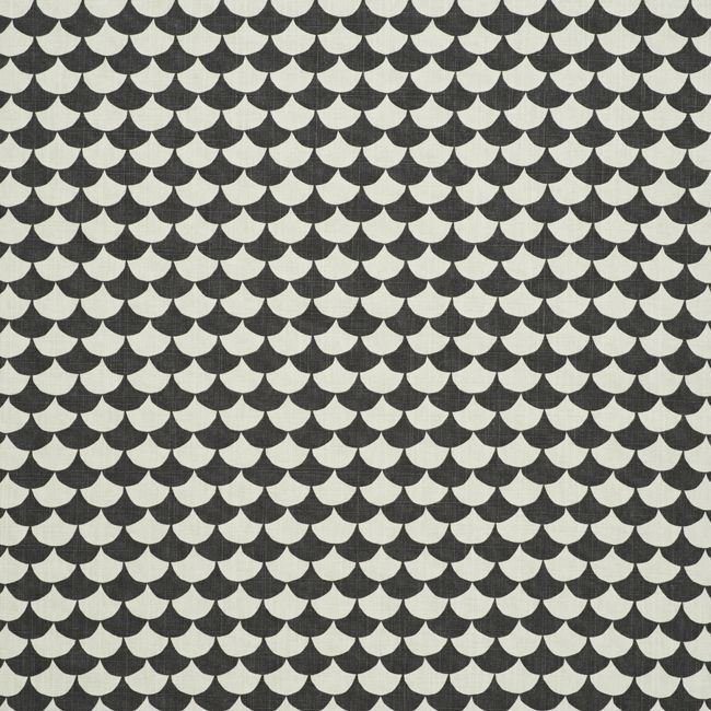 Littlephant - Wawes print cotton fabric - black and white print design