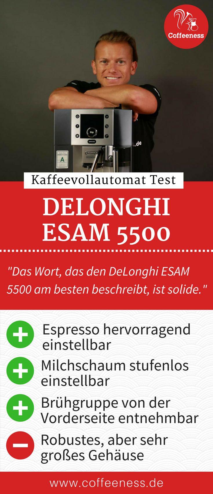 Besonders gut hat mir die stufenlose Einstellung des Espressos und Milchschaums gefallen. Der Espresso erreicht eine für einen Vollautomaten untypisch hohe Qualität. Der Mahlgrad wird auf einer ebenfalls feinen Stufe erreicht. Warum ich ebenfalls sehr überzeugt vom Bedienkonzept des Delonghi ESAM 5500 war, erfährst du im ausführlichen Test auf www.coffeeness.de. #Kaffeevollautomat #Coffeeness #Kaffee #Küche