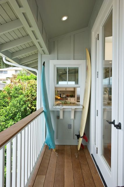 beachcomber  open window to kitchen