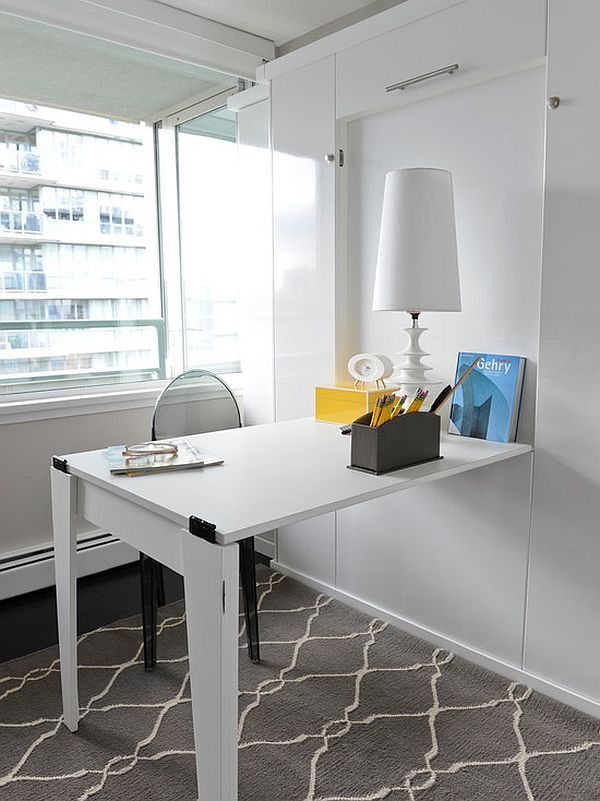 E Saving Hideaway Desks Studio Ideas Pinterest Office And Small Apartment Design