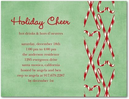 18 best candy cane party invitations images on pinterest candy a candy cane themed holiday party invite with a touch of elegance stopboris Gallery