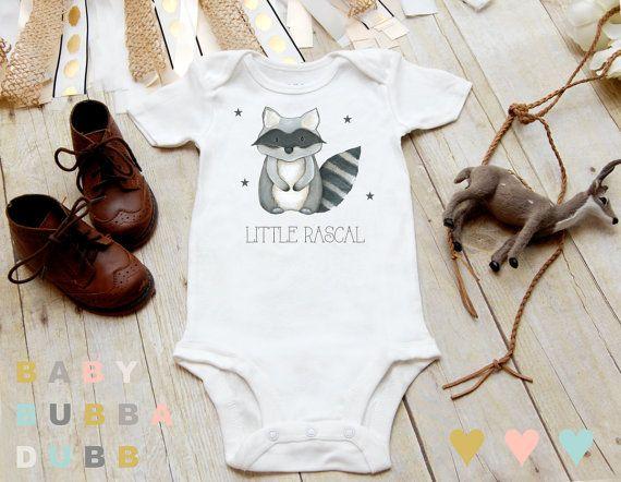 Little Rascal Racoon Onesies® Boho Onesie, Baby Boy Clothes, Boho Baby Clothes…