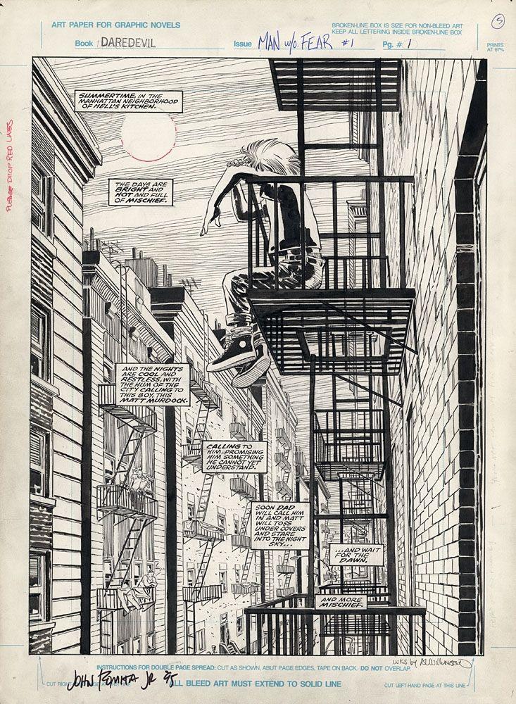 Daredevil: Man Without Fear #1 pg.1 - John Romita Jr & Al Williamson