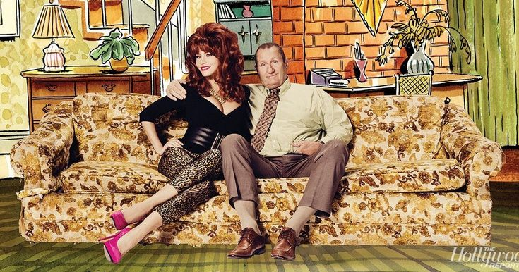 Ed O'Neill Revisits 'Married with Children' in 'Modern Family' Photos -- The 'Modern Family' cast revisit five classic sitcoms with Ed O'Neill and Sofia Vegara playing Al and Peg Bundy. -- http://movieweb.com/married-with-children-al-bundy-modern-family-photos/