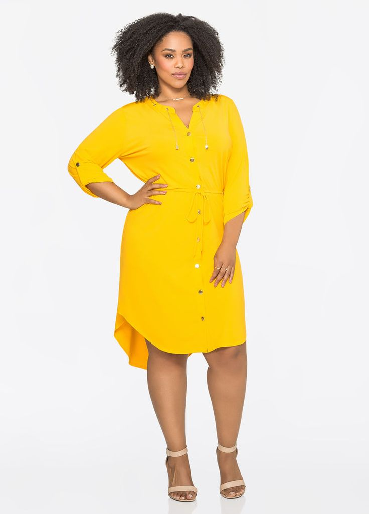 Chainlink Hi-Lo Shirtdress Chainlink Hi-Lo Shirtdress