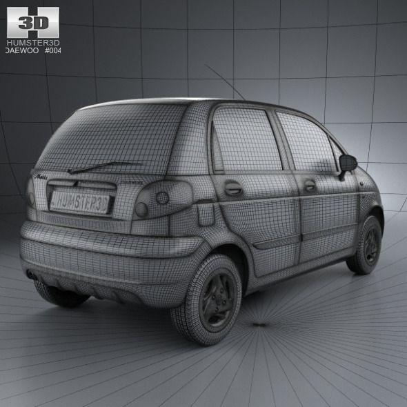 Daewoo Matiz M150 2011 Daewoo 3d Model Car