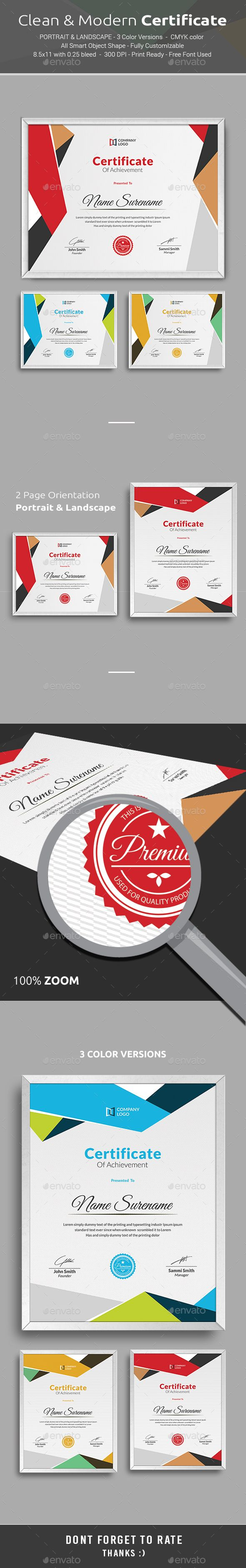 Certificate Template PSD. Download here…