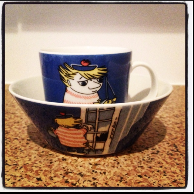 Arabia Moomin 'Two-Ticky' design cup and bowl