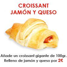 ¡Añade un croissant de jamón y queso a tu pedido a domicilio!