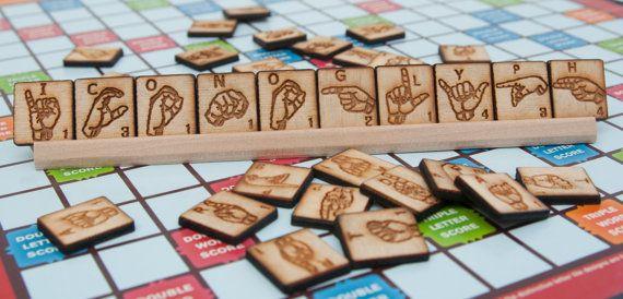 ASL Scrabble Tiles by JuggleFive on Etsy