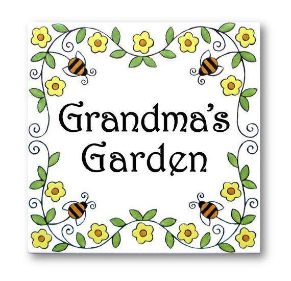 Personalized Garden Sign Mother S Day Gift Garden Plaque Custom