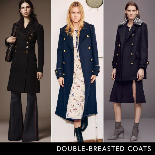 Pre-Fall 2016 Trend Report Double-Breasted Coats