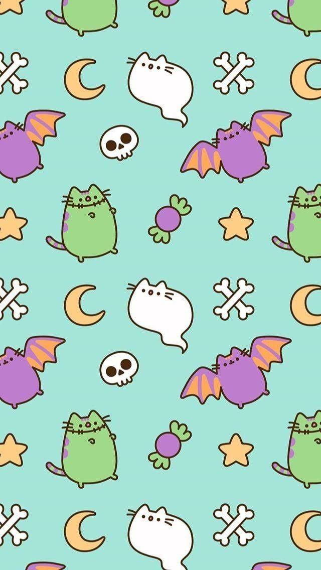 Halloween Halloween Wallpaper Pusheen Cute Halloween Wallpaper Iphone