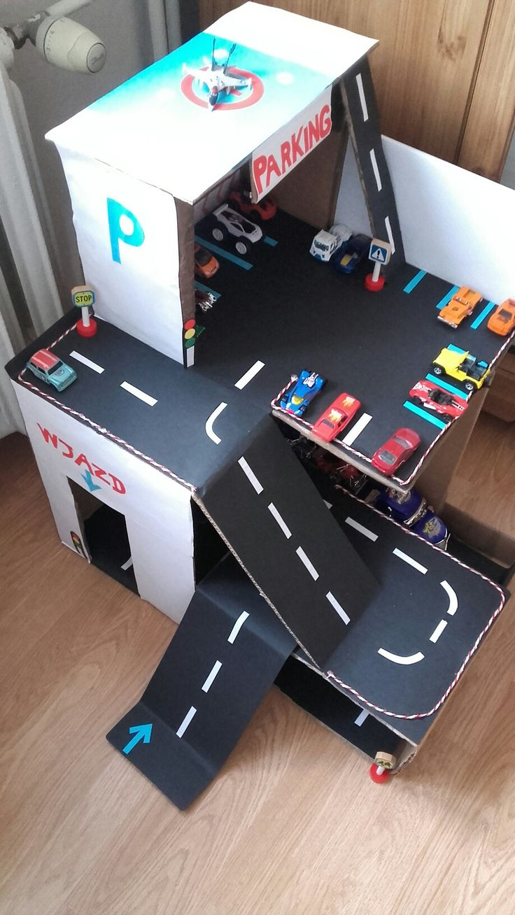 cardboard parking for cars by isCraFT, DIY