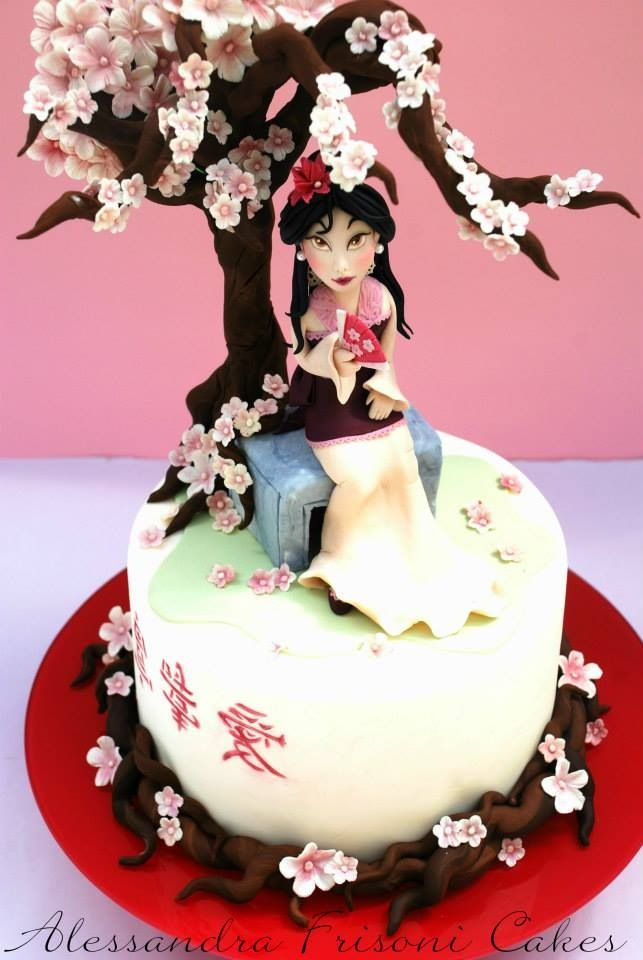 Mulan Cake I love cherry blossoms