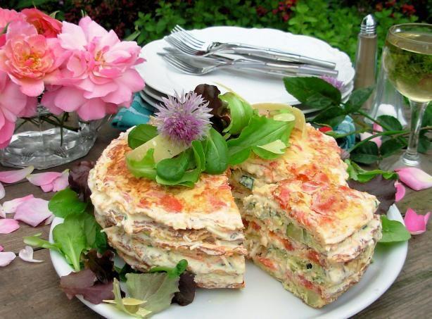 Elegant Omelette Gateau