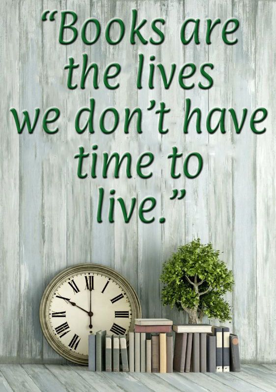 Books are the lives we don't have time to live.