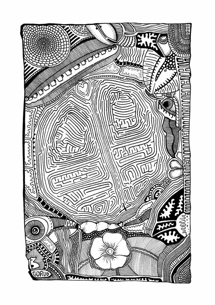 Tumor Cerebri (2013) by GORUD.deviantart.com on @deviantART #Ink #Art #BW #Graphic #Drawing #Pen