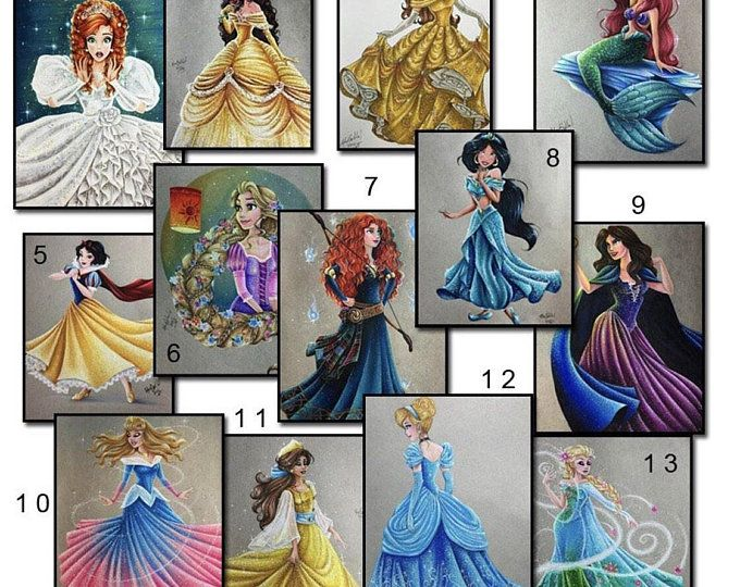 DISNEY PRINCESSES in GOWNS Full Drill Diamond Painting Kit 5D Diamond Cross Stitch Paint With Diamonds Diamond Dotz Kit Diamond Art Mosaics